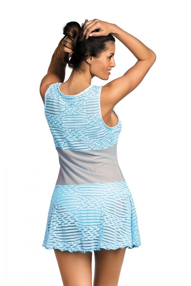 Sukienka Plażow Tunika Model Vivian Fata-Bianco M-414 Lodowy - Marko