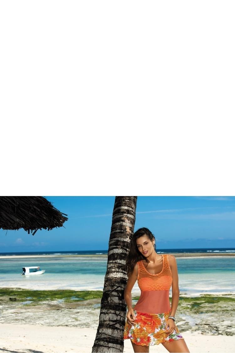 Sukienka Plażow Tunika Model Rita Incas M-415 Orange - Marko