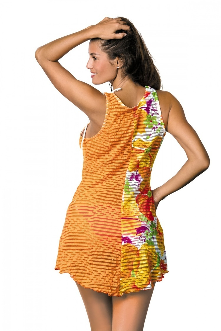 Sukienka Plażow Tunika Model Jenna Incas M-416 Orange - Marko