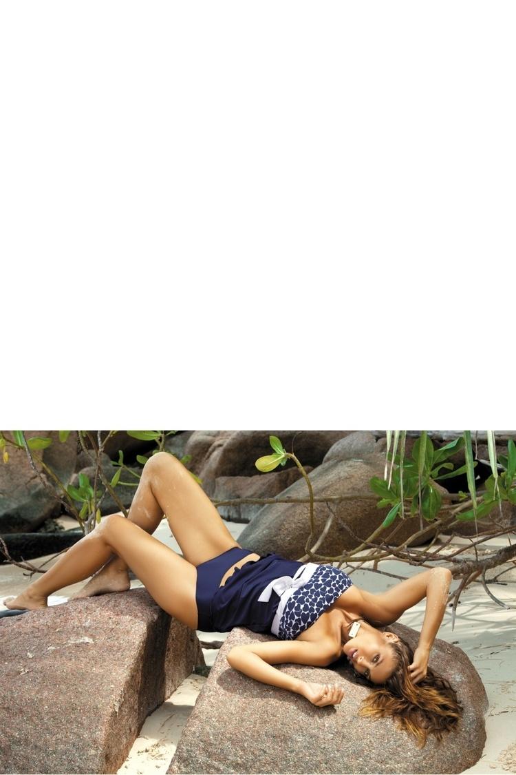 Jednoczęściowy strój kąpielowy Kostium Kąpielowy Julie M-182 Navyblue - Marko