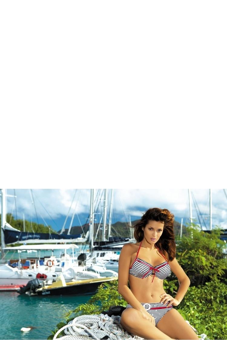 Kostium dwuczęściowy Kostium Kąpielowy Model Eleni M-188 White/Black - Marko