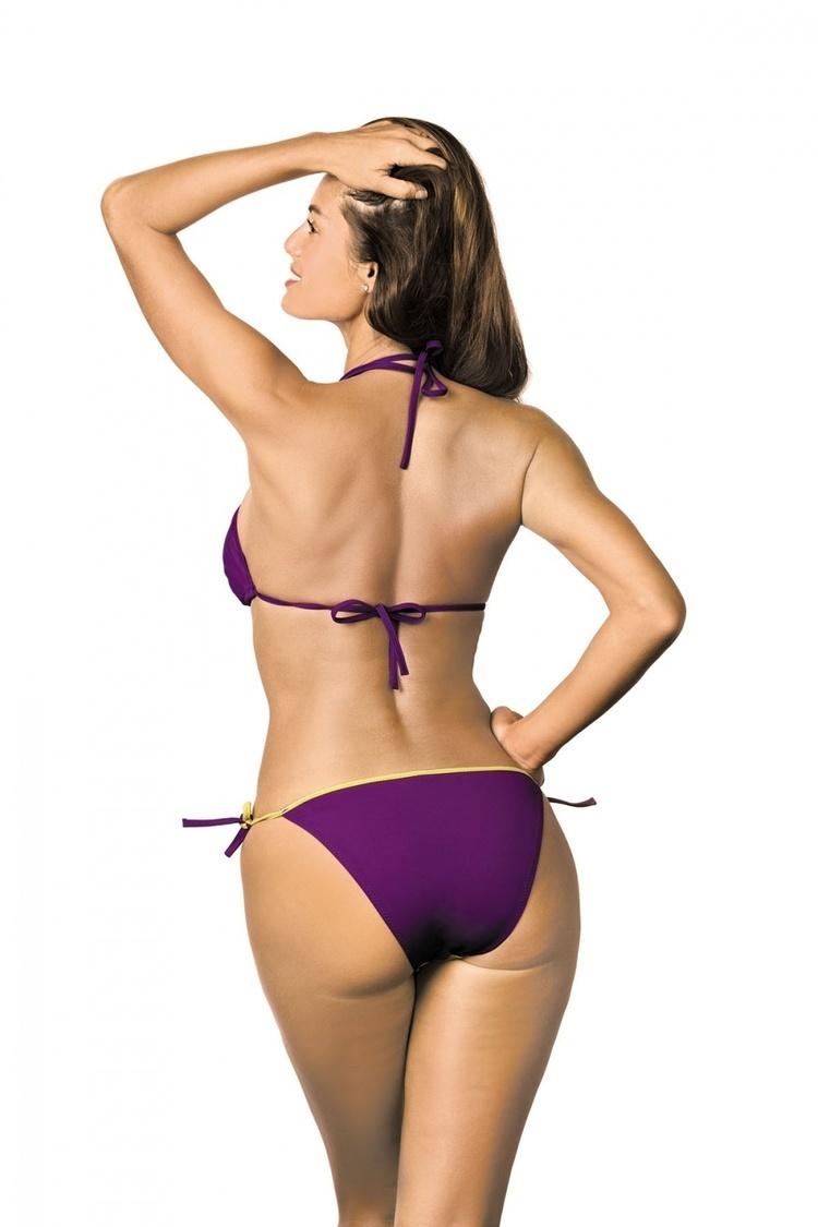 Kostium dwuczęściowy Kostium Kąpielowy Model Anis Gialina-Mitro M-427 Violet/Yellow - Marko