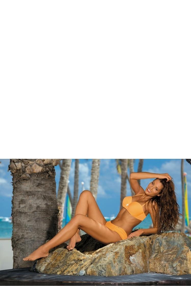 Kostium dwuczęściowy Kostium Kąpielowy Model Janet Incas M-349 Mandarynka - Marko