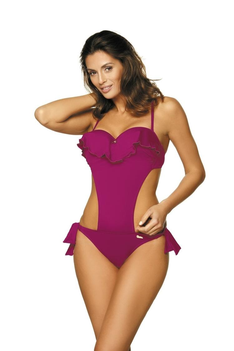 Jednoczęściowy strój kąpielowy Kostium kąpielowy Model Carmen Thai Pink M-468 Jagoda - Marko