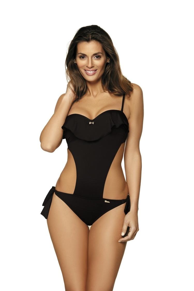 405549a598f843 Jednoczęściowy strój kąpielowy Kostium kąpielowy Model Carmen Nero M-468  Black - Marko