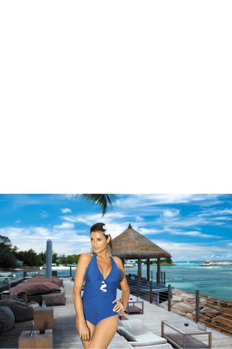 Jednoczęściowy strój kąpielowy Marko Kostium Kąpielowy Martina M-178 Dark Blue - Marko
