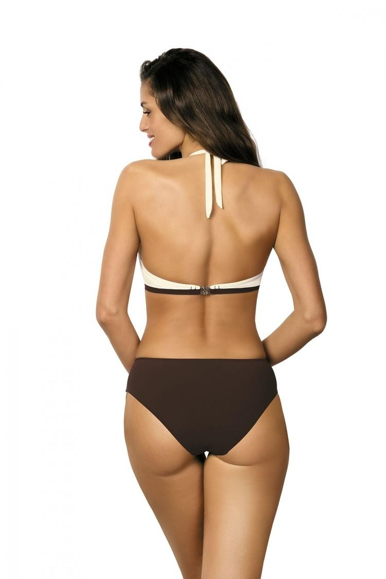 Jednoczęściowy strój kąpielowy Kostium Kąpielowy Model Beatrix Moka-Avorio M-337 Pearl/Brown - Marko