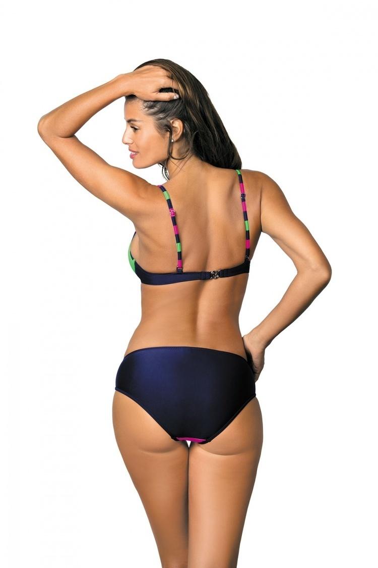 Kostium dwuczęściowy Kostium Kąpielowy Model Tamara Blu Scuro-Rosa Shocking-Blight Green M-399 Pink/Green - Marko