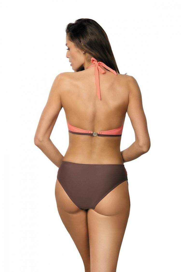 Jednoczęściowy strój kąpielowy Kostium Kąpielowy Model Beatrix Cubano-Flamingo M-337 Coral/Brown - Marko