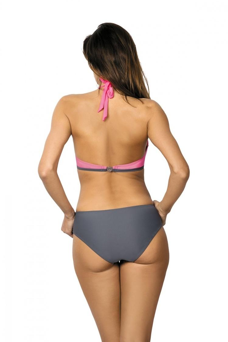 Jednoczęściowy strój kąpielowy Kostium Kąpielowy Model Beatrix Ardesia-Popstar M-337 Pink/Grey - Marko