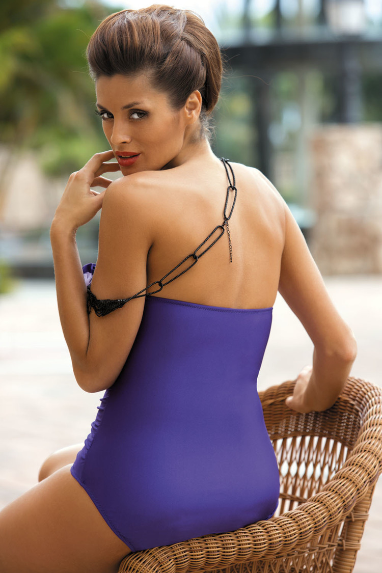 Jednoczęściowy strój kąpielowy Kostium Kąpielowy Model Shila Royal Blu M-202 Szafir - Marko