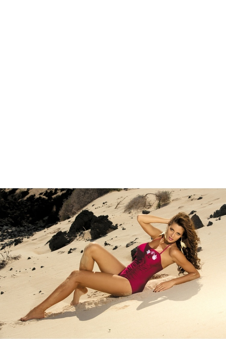 Jednoczęściowy strój kąpielowy Kostium Kąpielowy Model Shila Ribes M-202 Bordo - Marko