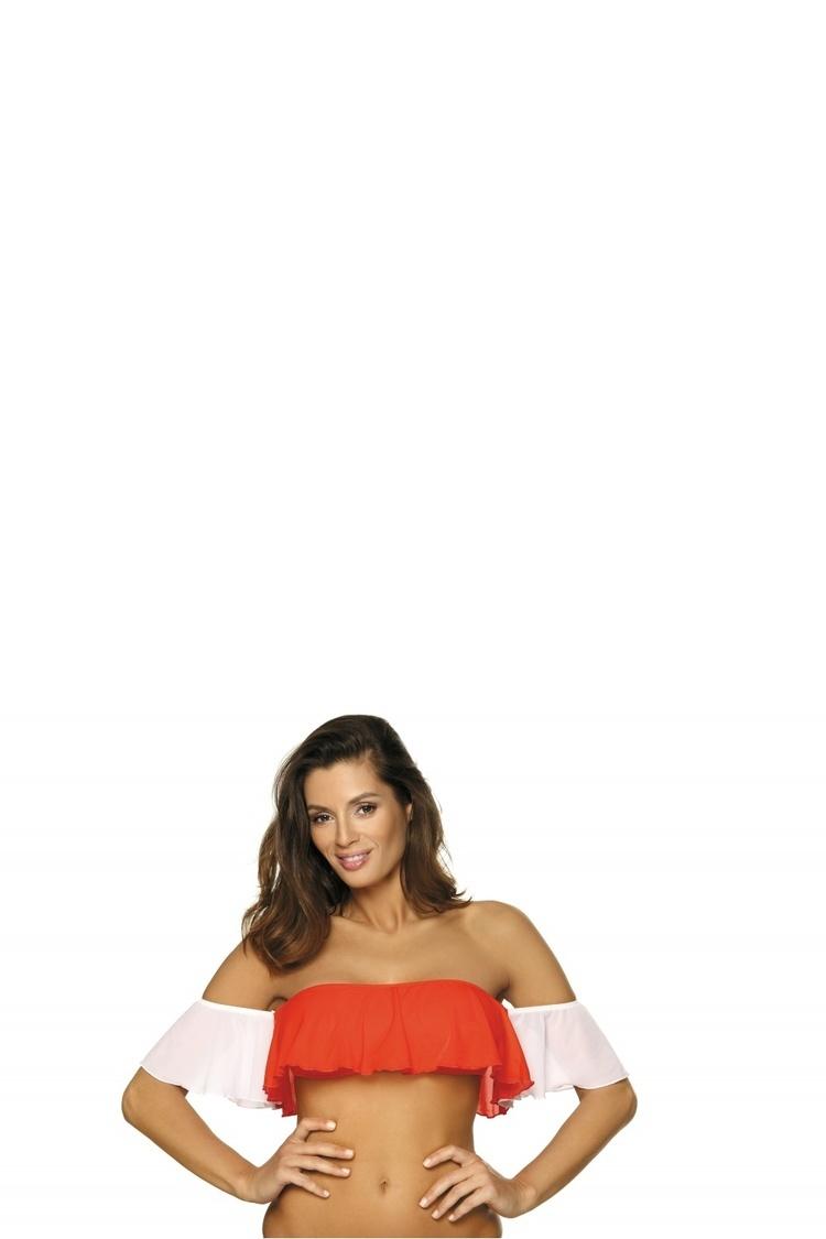 Kostium dwuczęściowy Top kąpielowy Model Grace Gerbera-Bianco M-488 Orange/White - Marko