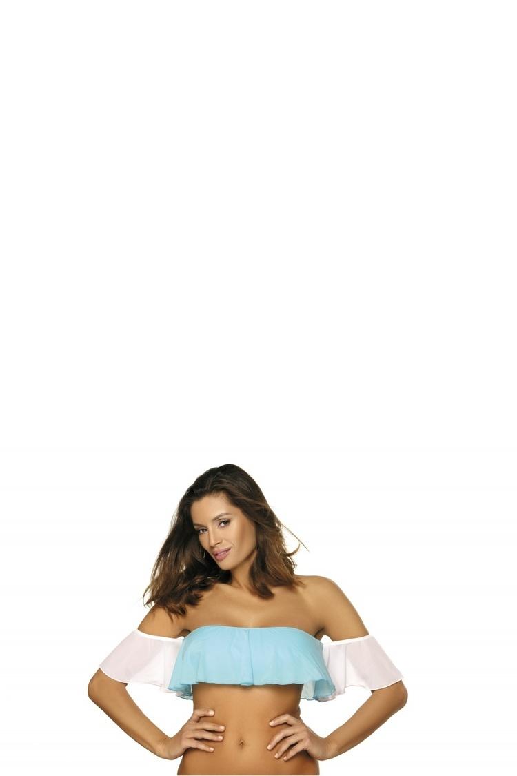 Kostium dwuczęściowy Top kąpielowy Model Grace Fata-Bianco M-488 Blue/White - Marko