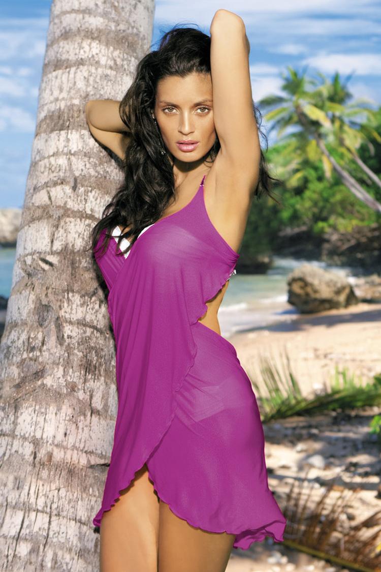 Sukienka Plażow Pareo Model C Memory Purpura Violet - Marko