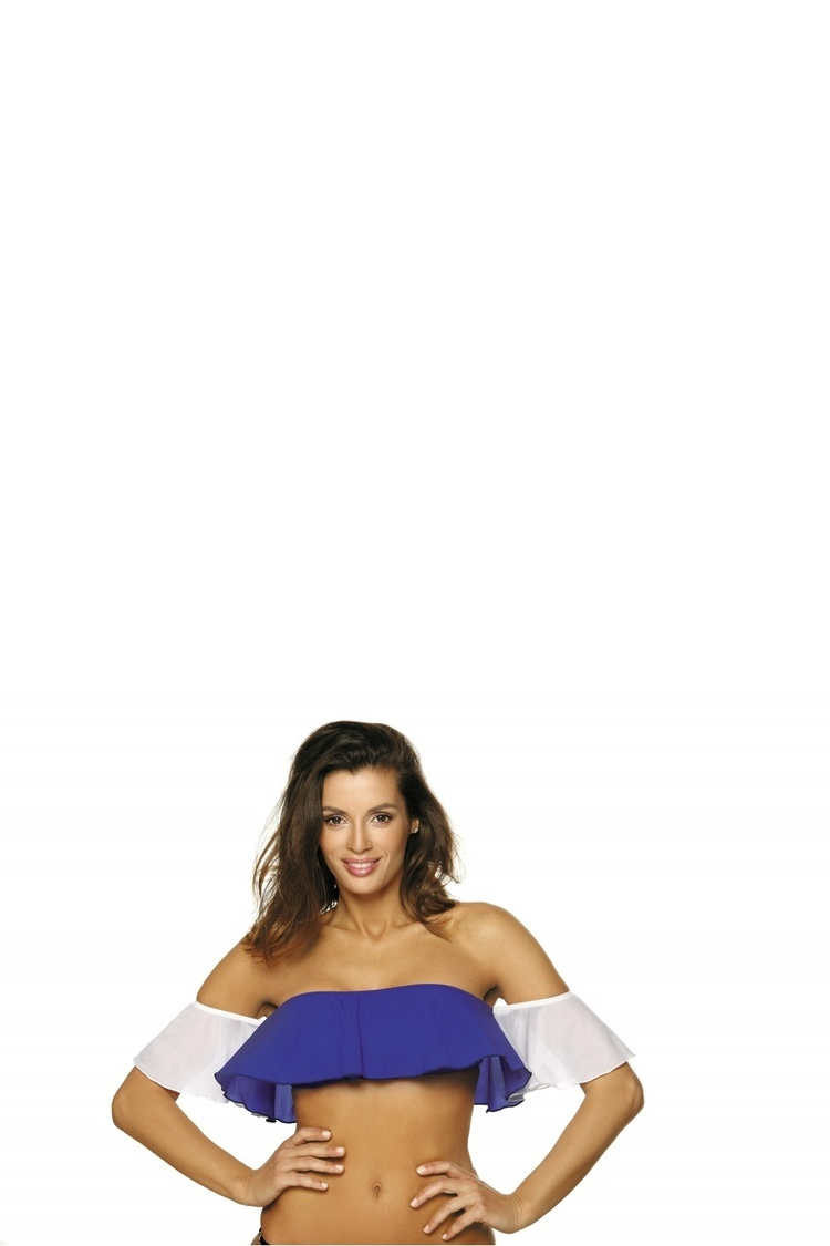 Kostium dwuczęściowy Top kąpielowy Model Grace Dandy-Bianco M-488 Szafir/White - Marko