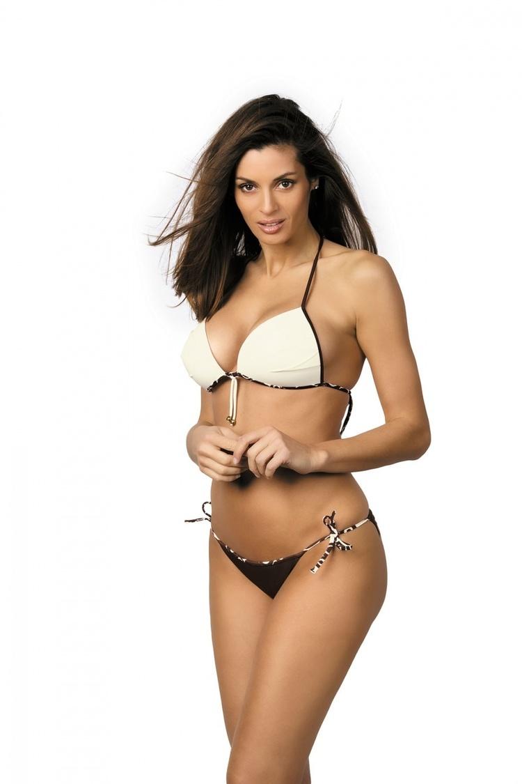 Kostium dwuczęściowy Kostium Kąpielowy Model Paola Africa-Avorio M-303 Brown/Ecru - Marko