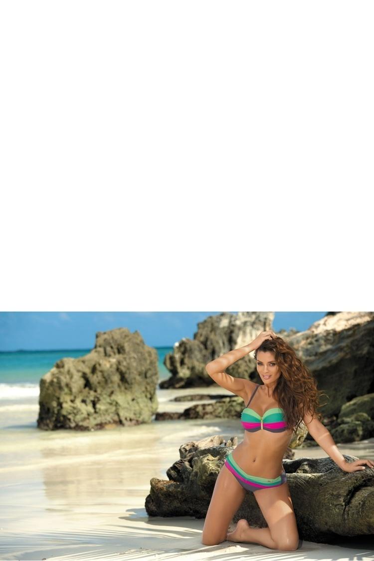 Kostium dwuczęściowy Kostium Kąpielowy Model Taylor Ardesia-Frezeze-Maldive Rosa Schocking M-350 Grey/Green/Pink - Marko