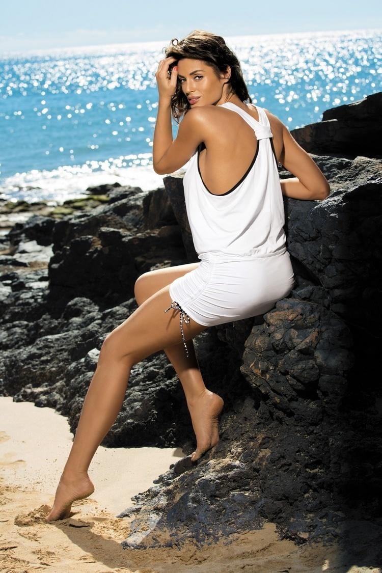 Sukienka Plażow Tunika Model Elsa Frosted M-313 Coral - Marko