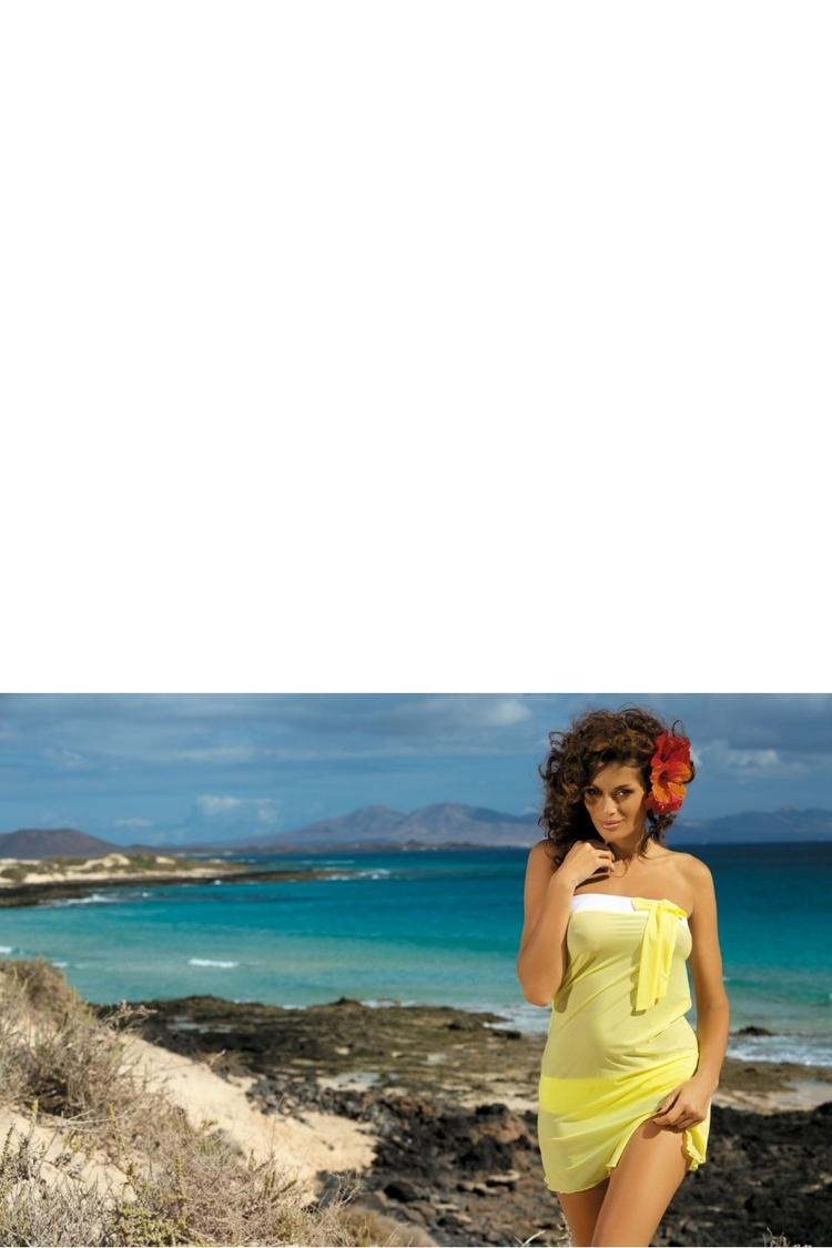 Sukienka Plażow Pareo Model Mia Lime M-241 Yellow - Marko