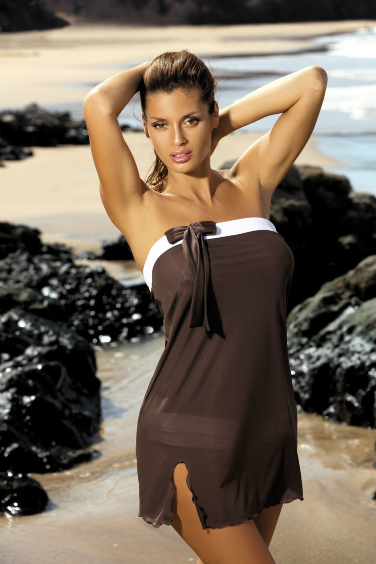 Sukienka Plażow Pareo Model Mia Moka M-241 Brown - Marko