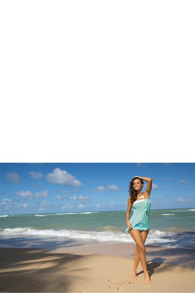 Sukienka Plażow Pareo Model Mia Seafoam Glow M-241 Mint - Marko