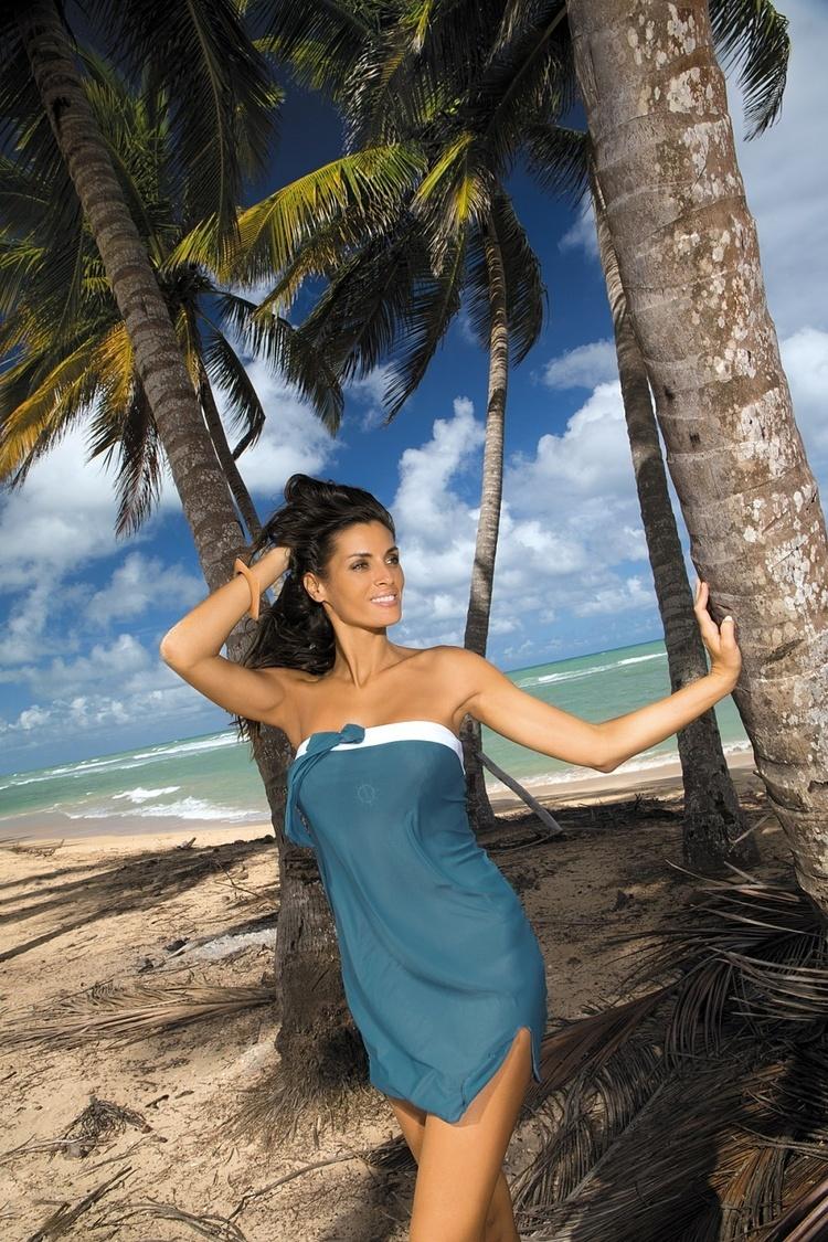 Sukienka Plażow Pareo Model Mia Sharm M-241 Sea  - Marko