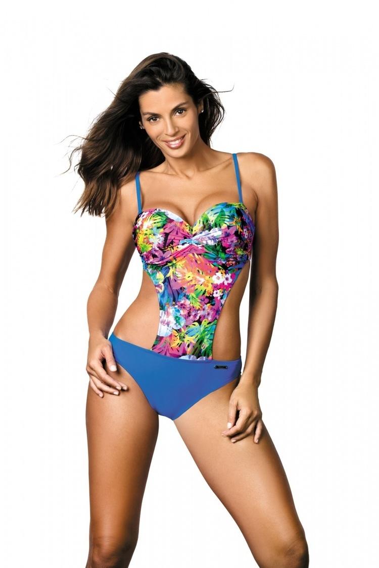 Jednoczęściowy strój kąpielowy Kostium Kąpielowy Model Blanca Sicily M-432 Blue - Marko