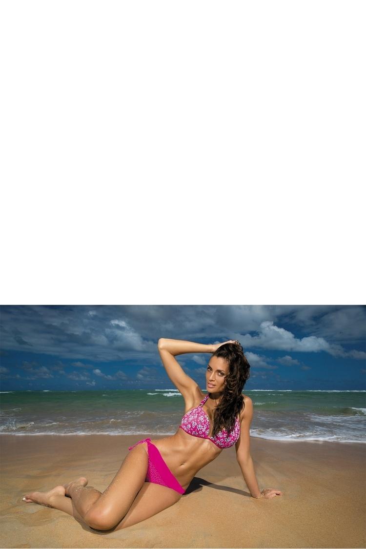 Kostium dwuczęściowy Kostium kąpielowy Model Flora Clematis M-265 Pink - Marko