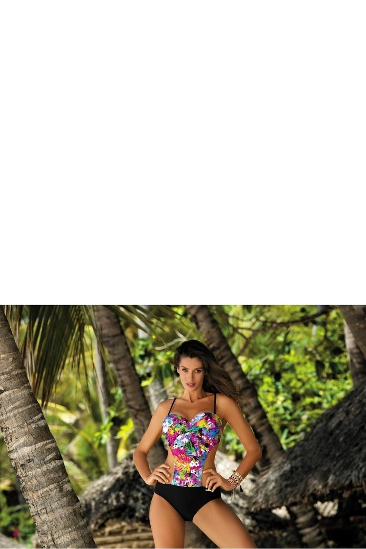 Jednoczęściowy strój kąpielowy Kostium Kąpielowy Model Blanca Nectarine-Nero M-432 Black - Marko