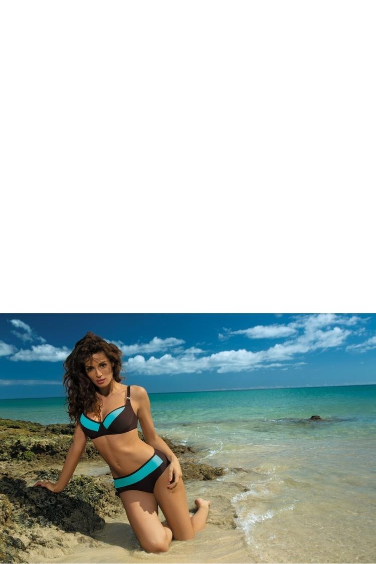 Kostium dwuczęściowy Kostium Kąpielowy Model Nancy Seppia-Martinica M-330 Brown/Turkus - Marko