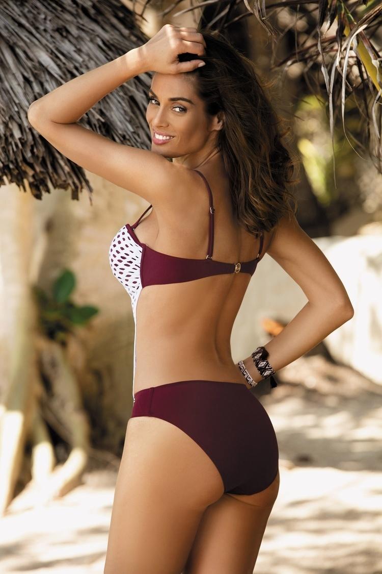 Jednoczęściowy strój kąpielowy Kostium Kąpielowy Model Gwen Vigneto M-405 Bakłażan - Marko