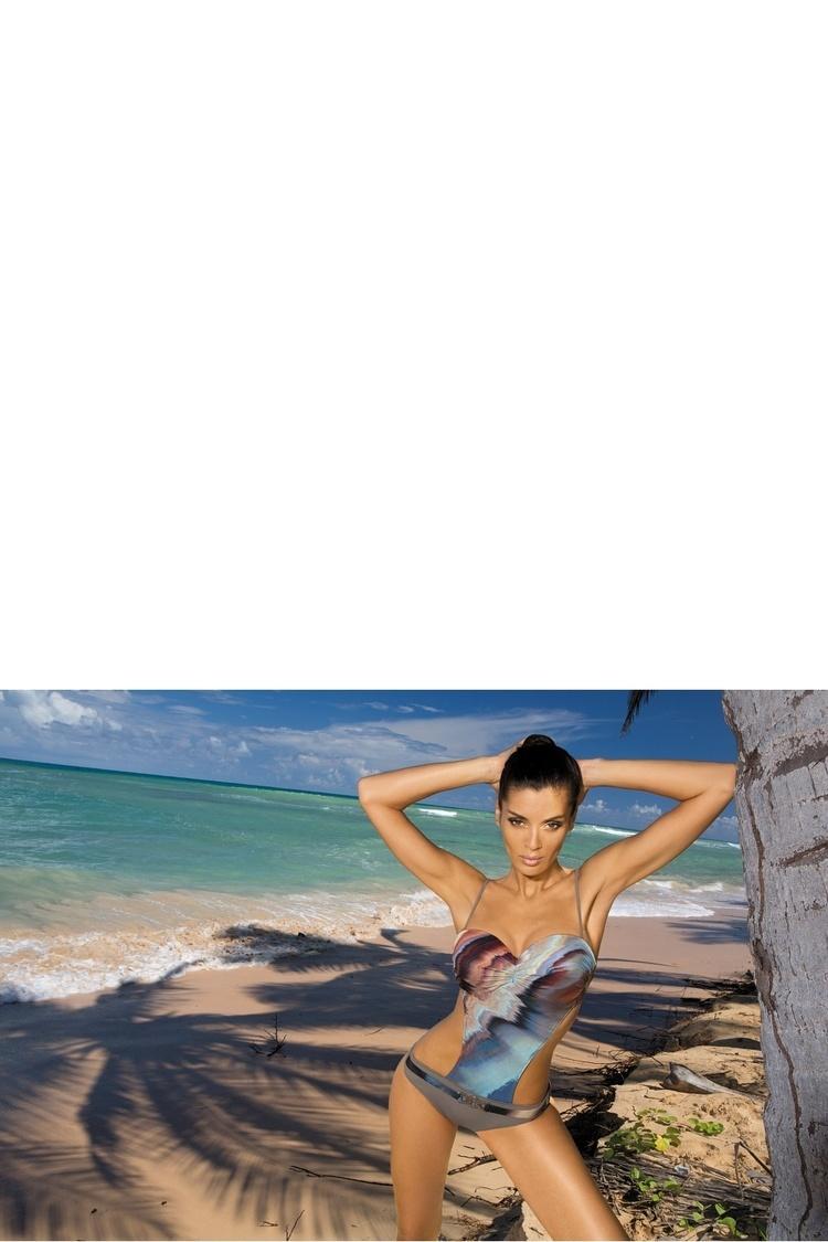Jednoczęściowy strój kąpielowy Kostium Kąpielowy Model Clara Cliff M-281 Grey - Marko