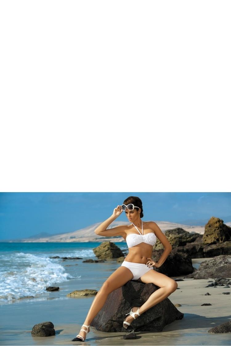 Kostium dwuczęściowy Kostium Kąpielowy Model Virginia Bianco M-206 White - Marko