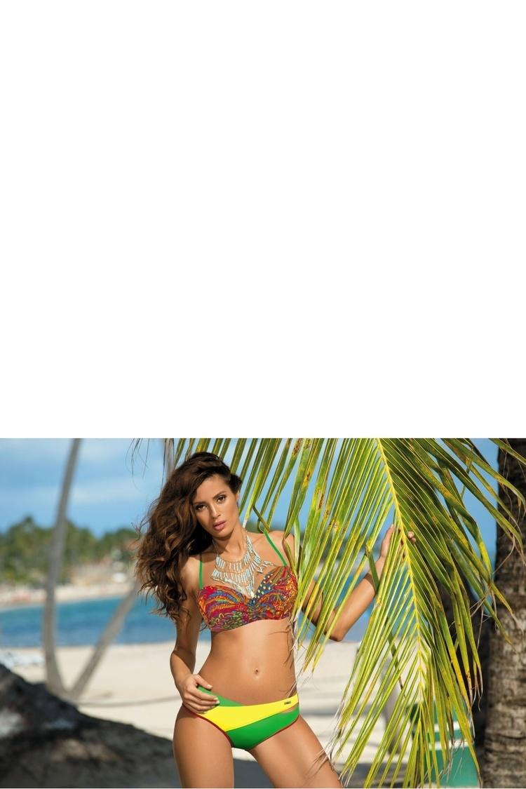 Kostium dwuczęściowy Kostium Kąpielowy Model Margaret Redcoat-Crickiet-Estate M-377 Red/Green/Yellow - Marko