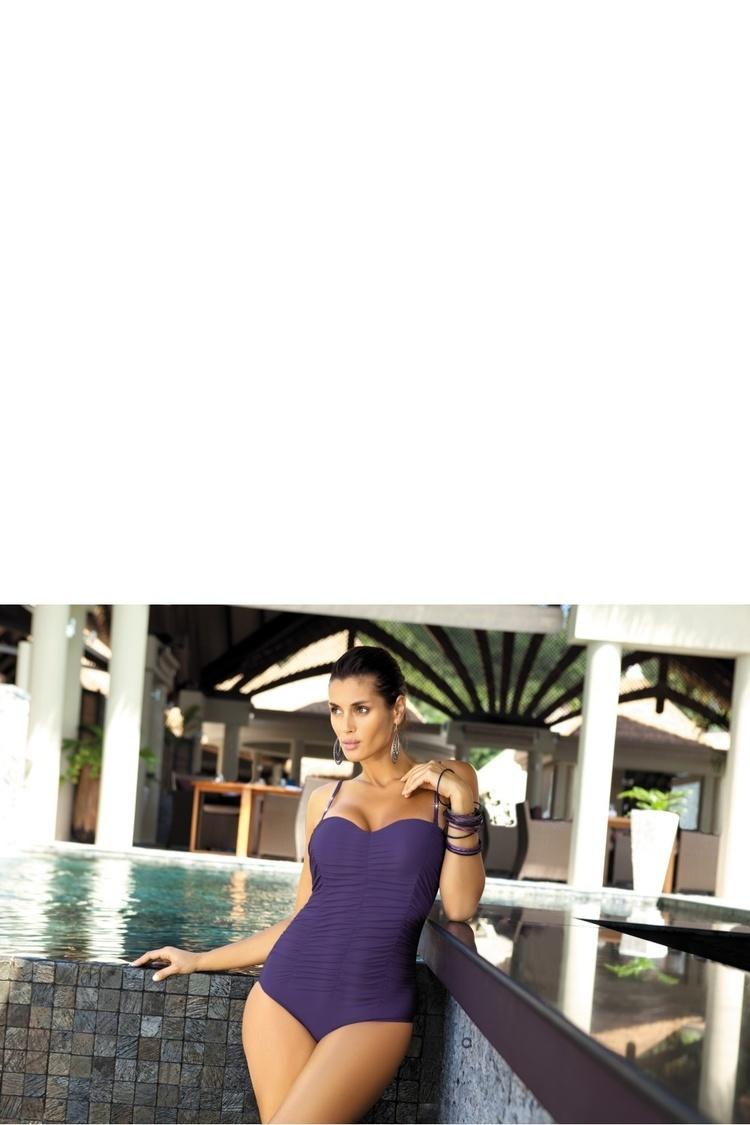 Jednoczęściowy strój kąpielowy Kostium kąpielowy Model Gabrielle M-123 Dark Violet - Marko