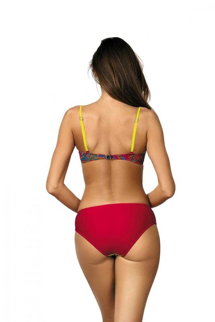Kostium dwuczęściowy Kostium Kąpielowy Model Margaret Redcoat-Estate-Crickiet M-377 Red/Seledyn/Green - Marko