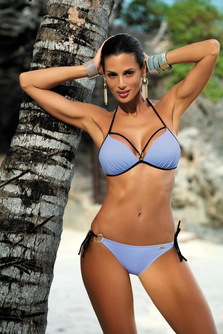 Kostium dwuczęściowy Kostium Kąpielowy Model Beth Sky Blue M-390 Lodowy Błękit - Marko