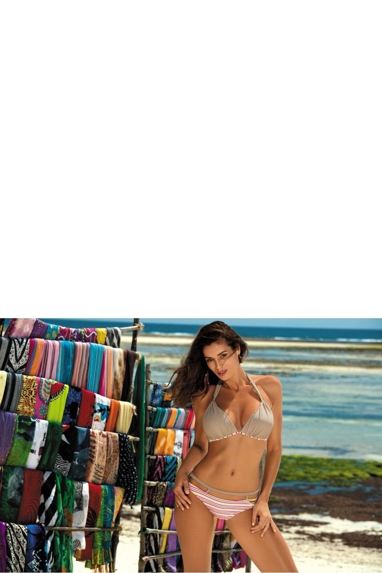 Kostium dwuczęściowy Kostium Kąpielowy Model Brenda Mosaico M-403 Mokka - Marko