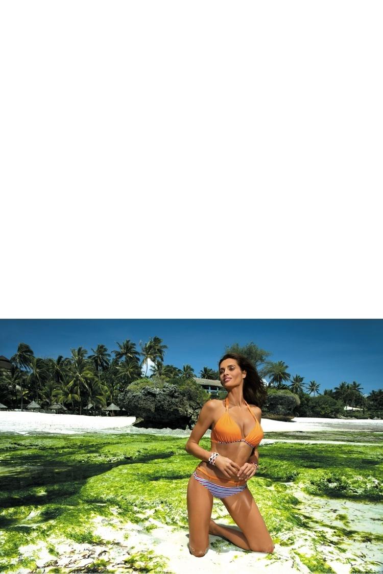 Kostium dwuczęściowy Kostium Kąpielowy Model Brenda Incas M-403 Mandarynka - Marko