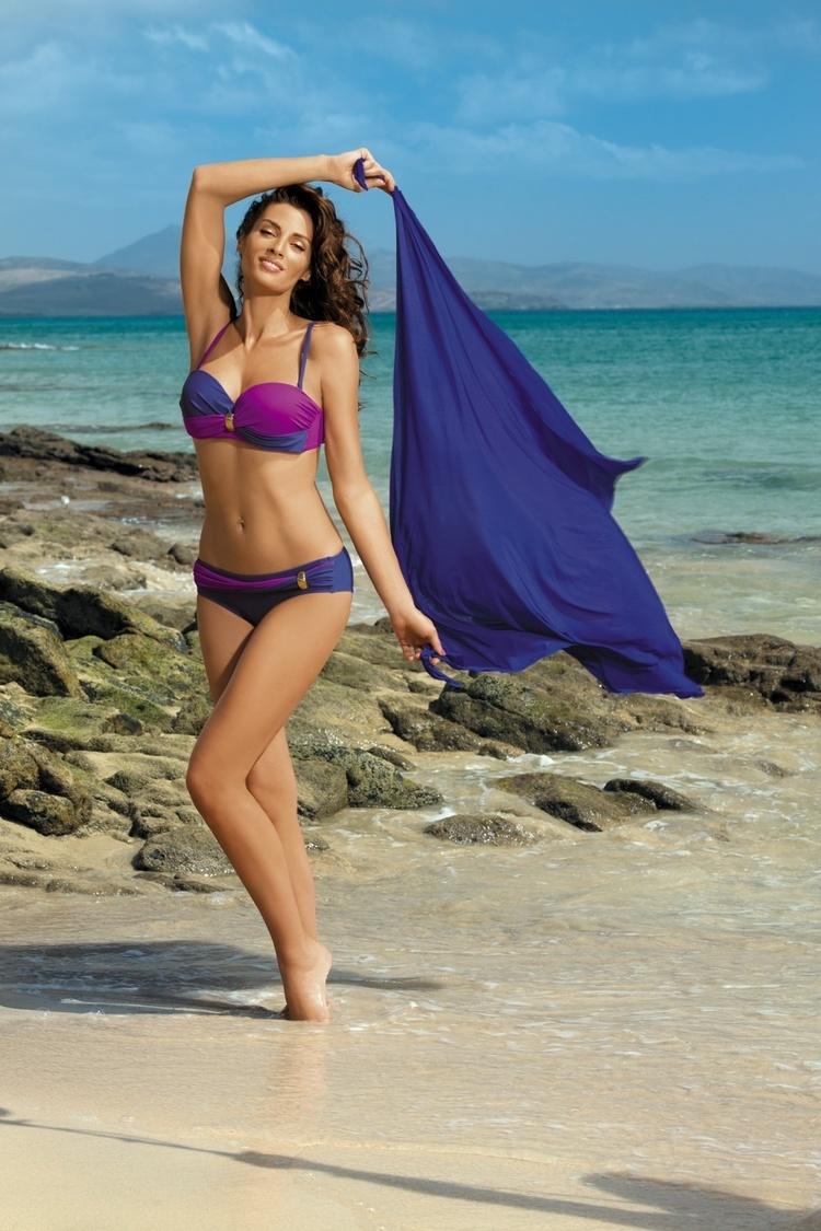 Kostium dwuczęściowy Kostium Kąpielowy Model Liliana Royal Blue-Memory M-259 Royal Blue/Dark Pink - Marko