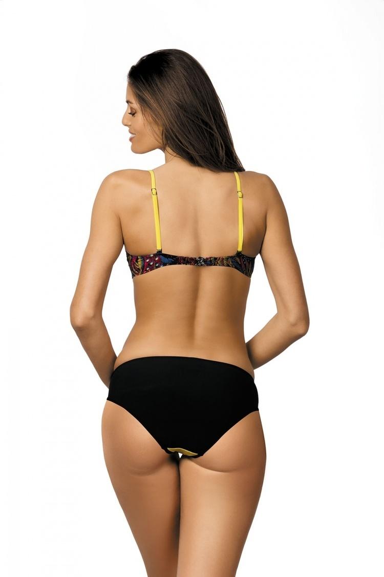 Kostium dwuczęściowy Kostium Kąpielowy Model Margaret Nero-Estate-Fresia M-377 Black/Seledyn/Malina - Marko