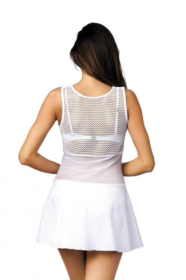 Sukienka Plażow Tunika Model Ines Bianco M-387 White - Marko