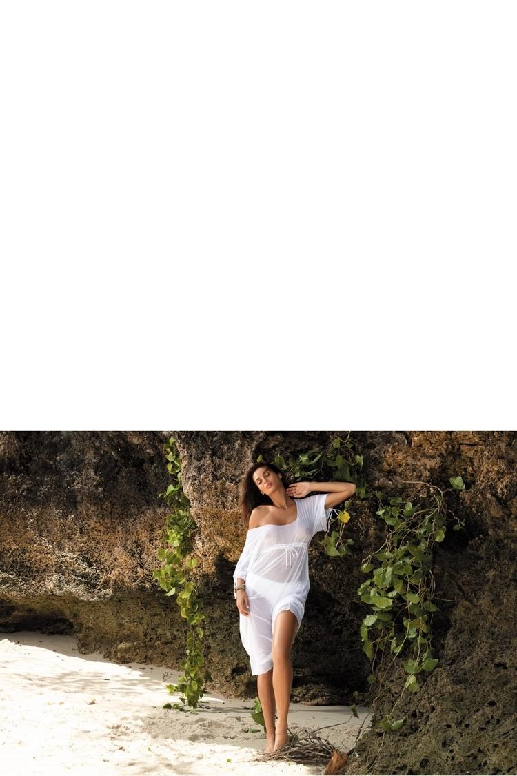 Sukienka Plażow Tunika Model Dora Bianco M-443 White - Marko