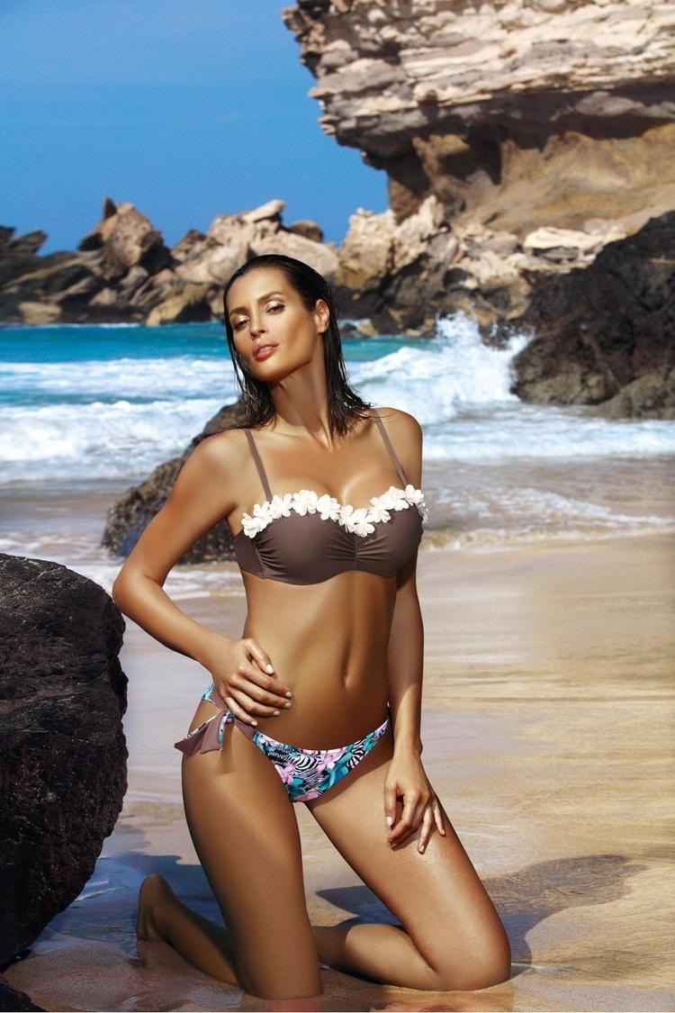 Kostium dwuczęściowy Kostium Kąpielowy Model Claudia Cubano M-452 Brown - Marko