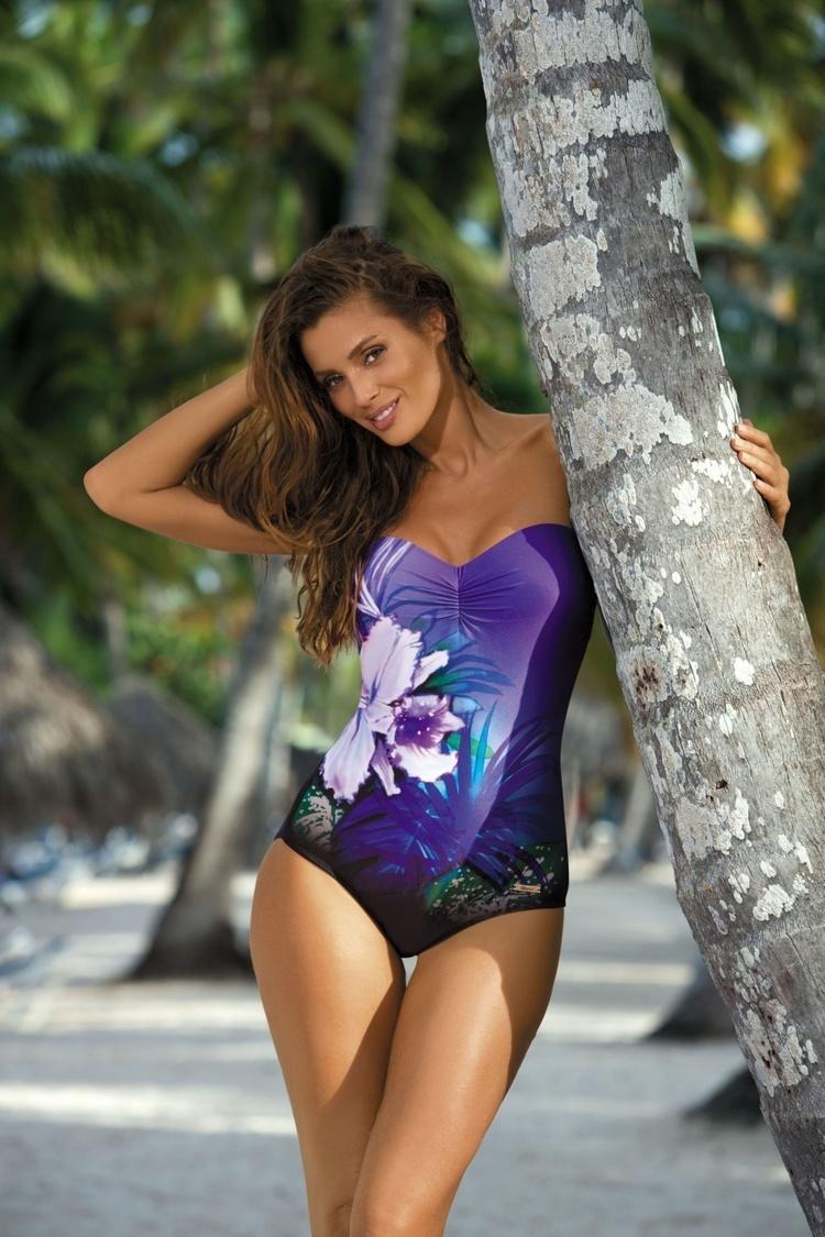 Jednoczęściowy strój kąpielowy Kostium Kąpielowy Model Nicole Nero-Dandy M-378 Black/Violet - Marko