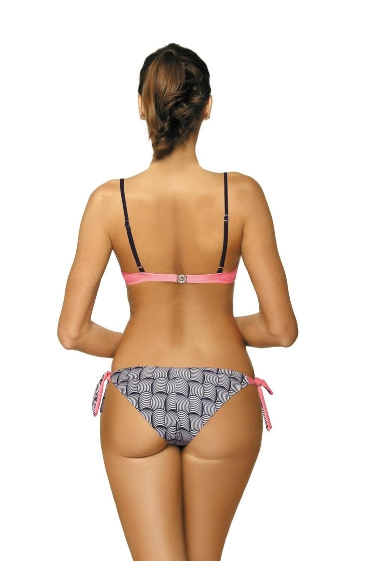 Kostium dwuczęściowy Kostium Kąpielowy Model Cindy Cosmo-Origami M-454 Pink - Marko