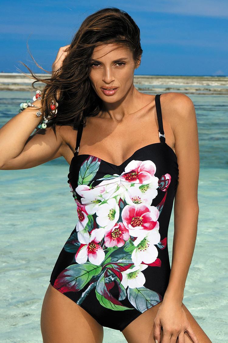 Jednoczęściowy strój kąpielowy Kostium Kąpielowy Model Rebecca Nero M-422 Black - Marko