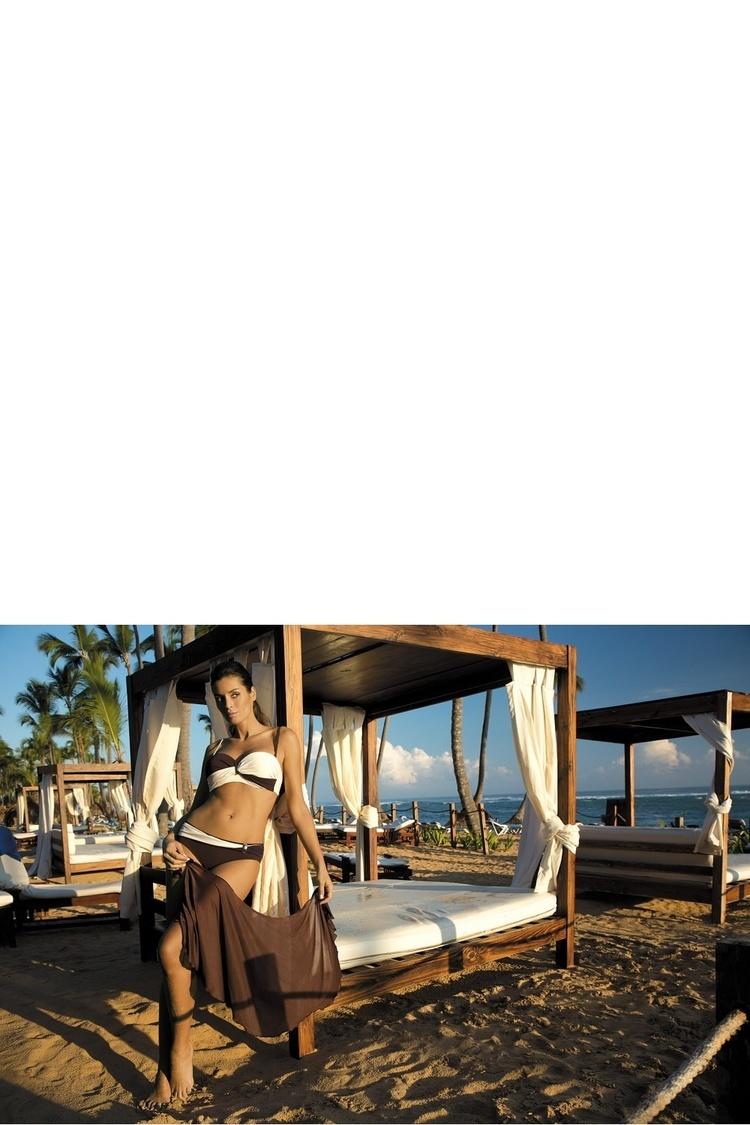 Kostium dwuczęściowy Kostium Kąpielowy Model Liliana Terra-Avorio M-259 Brown/Ecru - Marko