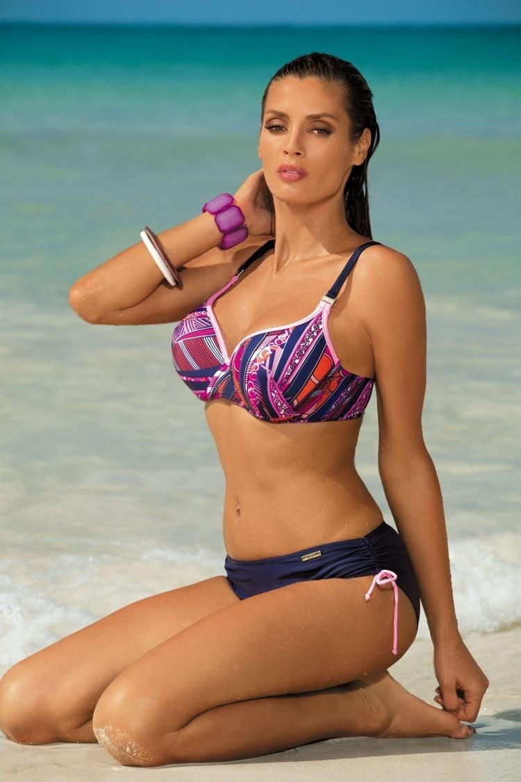 Kostium dwuczęściowy Kostium Kąpielowy Model Doris Blueberry-Hollywood M-352 Navy/Pink - Marko